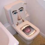 talking on toilet