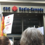 Rally in support of CBC in Ottawa, June 2014