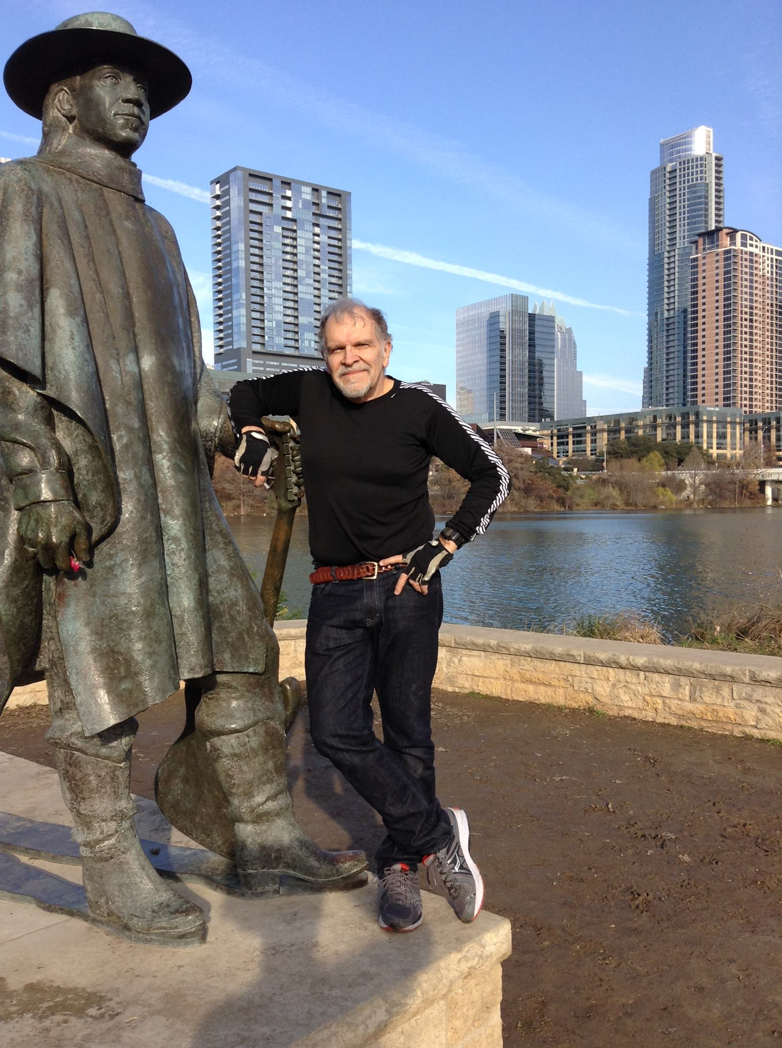 Austin city limits. That's me and Stevie on the banks of the Colorado River
